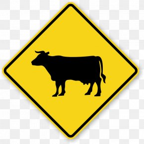 Cattle Images - Cattle Sheep Water Buffalo Traffic Sign Warning Sign PNG