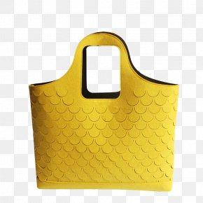 Yellow Bag Personality Fish Scales - Handbag Yellow Scale PNG