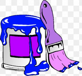 Paint Can Cliparts - Painting Paintbrush Clip Art PNG