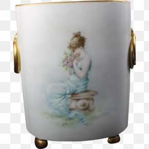 Hand-painted Flower Pot - Porcelain Table-glass PNG