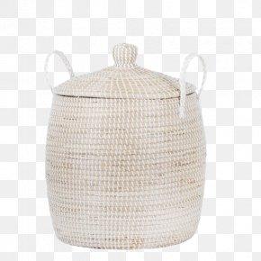 Lid Hamper Wicker Basket Rattan PNG