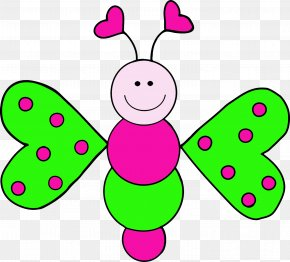 Pink Dinosaur Cliparts - Butterfly Free Content Website Clip Art PNG