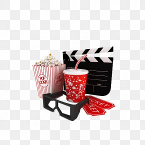 This Cartoon Brand Cola Popcorn - Outdoor Cinema Film Ticket Clapperboard PNG