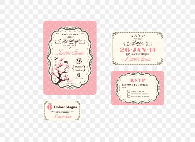 Wedding Invitation Greeting Card Royalty Free Png 3727x2729px