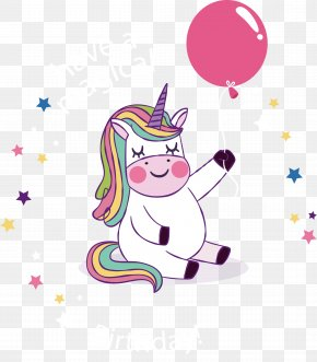 A White Sky With A Balloon - Birthday Party Unicorn YouTube Wish PNG