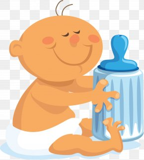 Baby Big Bottle - Diaper Infant Clip Art PNG