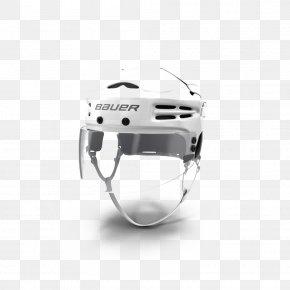 Bauer Hockey Helmet White - Hockey Helmet Hockey Stick Bauer Hockey PNG