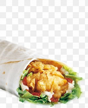 Mexican Chicken Roll Material - KFC Fast Food Hamburger Chicken Meat Burrito PNG