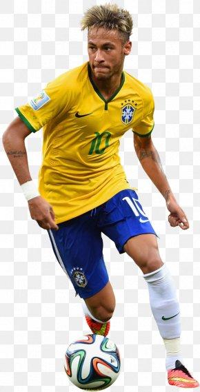 Neymar Football Render Transparent - Neymar Brazil Paris Saint-Germain F.C. Real Madrid C.F. 2014 FIFA World Cup PNG
