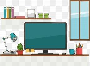 Business Desktop PC - Desktop Computer Table Download PNG