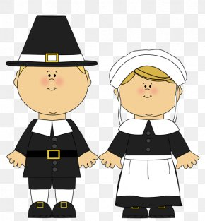 Male Pilgrim And Female Pilgrim Clipart - Pilgrims Clip Art PNG