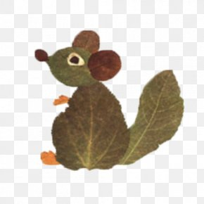 Leaves Squirrel Fight - Autumn Leaf Color Art Craft PNG