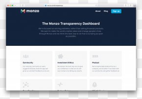 Dash Board - User Interface Design JavaScript Monzo PNG