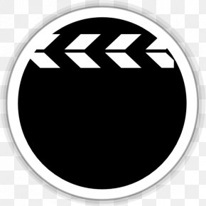 Multimedia Video Player - Emblem Brand Monochrome PNG