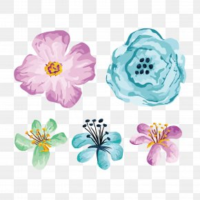 Hand Painted Flower Illustration Vector Illustration - Flower Illustration PNG