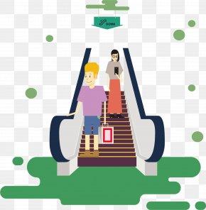 Mall Escalator - Rapid Transit Escalator Elevator Stairs PNG