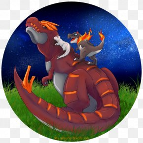 Looking At The Stars - Dragon Cartoon Organism Recreation PNG