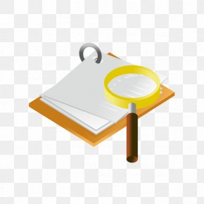 Vector Magnifying Glass And Paper - Magnifying Glass Icon PNG
