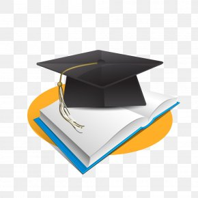 Bachelor Cap And Books - Bachelors Degree Doctorate Academic Degree Diplom Ishi PNG