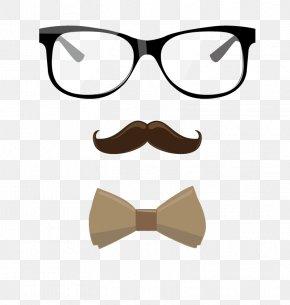 Vector Glasses Beard - Beard Glasses Clip Art PNG