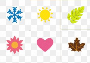 Snowflake Sun Maple Flowers - Christmas Snowflake Blue PNG