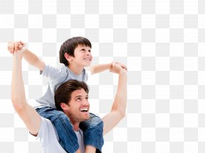 Happy Father And Child - Fathers Day Child Parent Son PNG