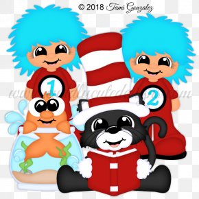 Cat In The Hat Book - Clip Art Illustration The Cat In The Hat Image PNG