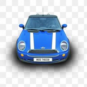 NewMini - Mini Cooper Electric Blue Automotive Exterior Subcompact Car PNG