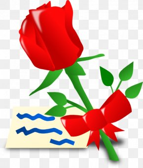 Red Flower - Valentine's Day Computer Icons Clip Art PNG