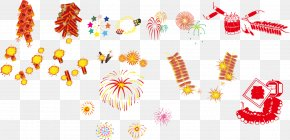 Vector Chinese New Year Fireworks - Fireworks Chinese New Year Firecracker Euclidean Vector PNG