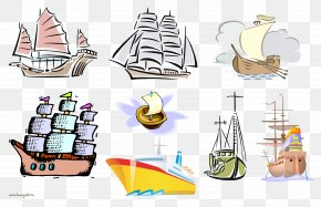 Boat - Boat Sailing Ship Cartoon Watercraft PNG