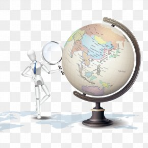 Vector Take A Magnifying Glass And The Globe - Euclidean Vector Magnifying Glass PNG