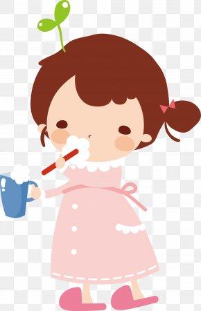 Children Brush Your Teeth - Cartoon Child Illustration PNG