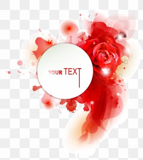 Vector Text Background Graphics - Rose Flower Euclidean Vector Clip Art PNG