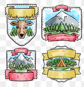 Watercolor Forest Protection Icon - Watercolor Painting Illustration PNG