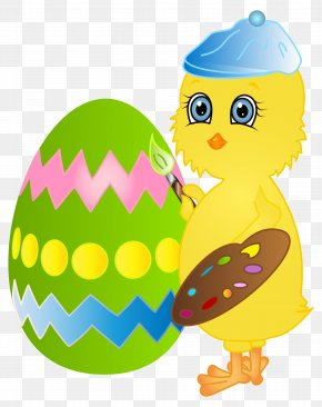 Easter Chicken Painting Egg Clip Art Image - Chicken Easter Egg Egg Decorating Dye PNG