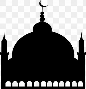Black Minimalist Church - Symbol Mosque Salah Logo PNG