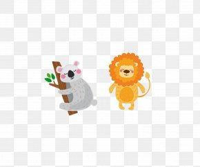 Lion Koala - Cartoon Stock Illustration Illustration PNG