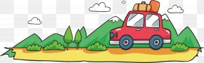 Hand-painted Wagon Banners - Cartoon Illustration PNG