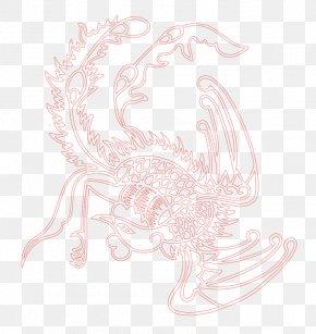 Red Phoenix - Text Pink Petal Illustration PNG