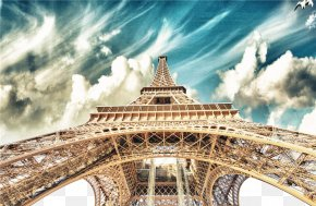 Eiffel Tower - Eiffel Tower New York City Painting Canvas PNG