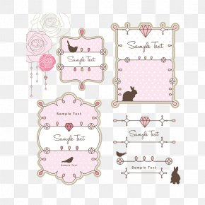 Cute Pink Pattern Frame - Picture Frame Drawing Ornament PNG