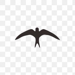 Birds - Swallow Logo Black And White Pattern PNG