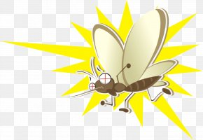 Bee - Mosquito Cartoon Poster PNG
