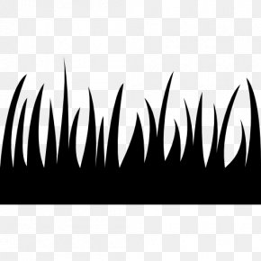 Black Pasture Silhoute - Lawn Artificial Turf PNG