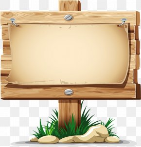Billboard - Wood Sign Clip Art PNG