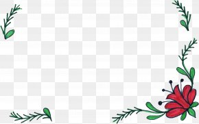 Flower Border - Flower Floral Design Drawing Picture Frames Clip Art PNG