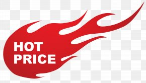 Hot Price Fire Sticker Clipart Image - Sticker Sales Clip Art PNG