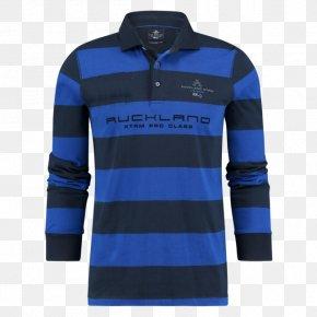 T-shirt - T-shirt Sleeve Polo Shirt Blue PNG