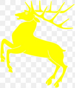 Yellow Reindeer Cliparts - Reindeer Antler Black And White Clip Art PNG